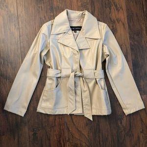 3/$25 Renee Raquel Girl's Faux Leather Coat